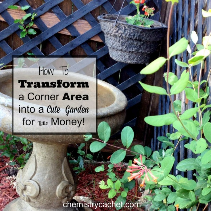 Tips and Ideas on how to transform a small corner area into a cute little garden for cheap! chemistrycachet.com