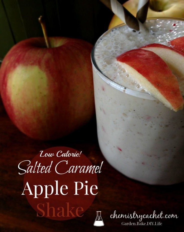 Salted Caramel Apple Pie Shake that is perfect for fall! Full of delicious flavor and even low calorie! chemistrycachet.com