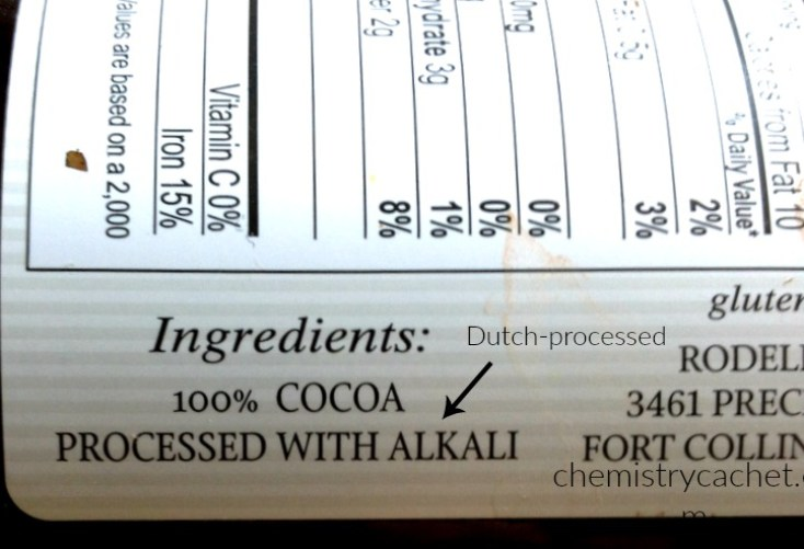 Cocoa Powder processed with alkali or dutch-processed, should you be using it chemistrycachet.com
