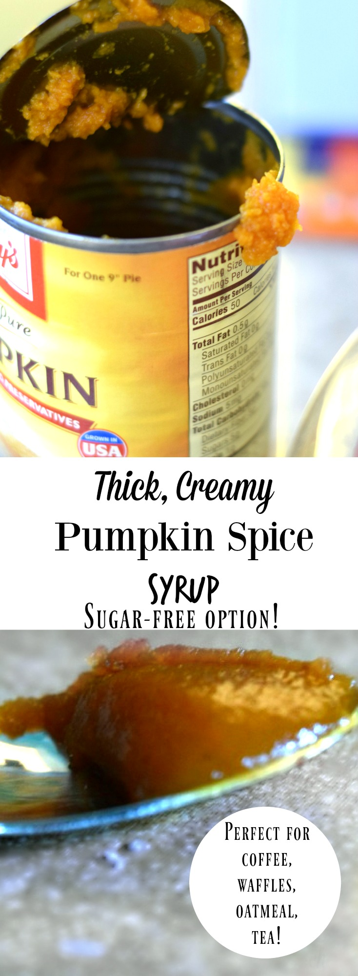 Easy pumpkin spice syrup recipe that's so thick and creamy! Can be sugar free pumpkin syrup too! on chemistrycachet.com