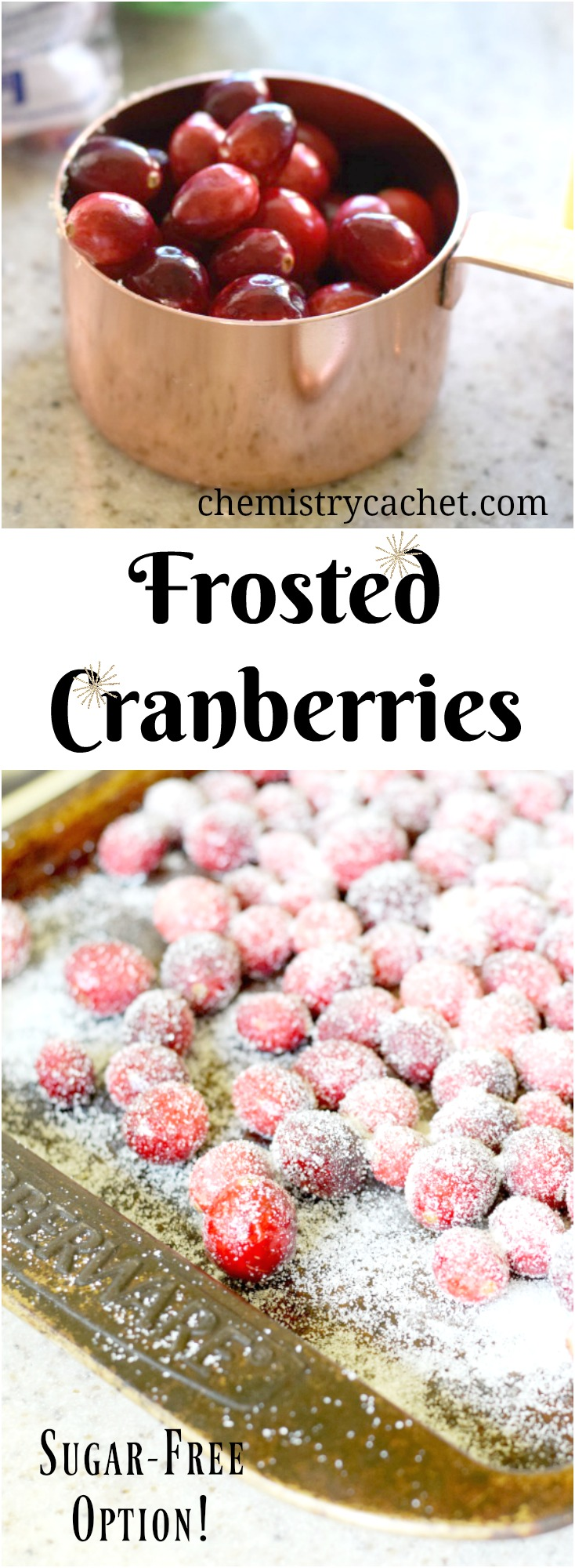 Frosted Cranberries Recipe. Easy and Beautiful! Plus sugar free cranberries on chemistrycachet.com