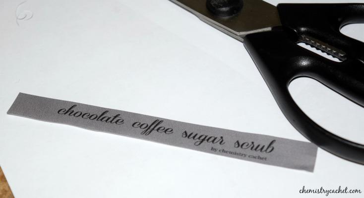 Make your own chocolate coffee sugar scrub