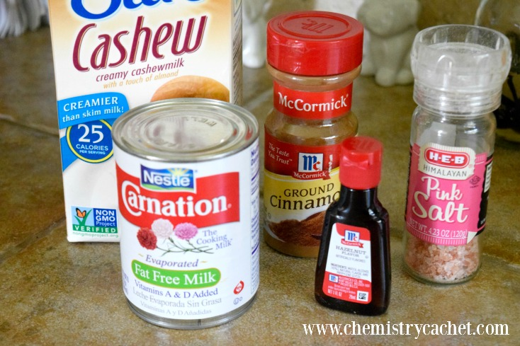DIY Skinny Hazelnut Coffee Creamer that is low in fat, but full of amazing, creamy flavor! on chemistrycachet.com