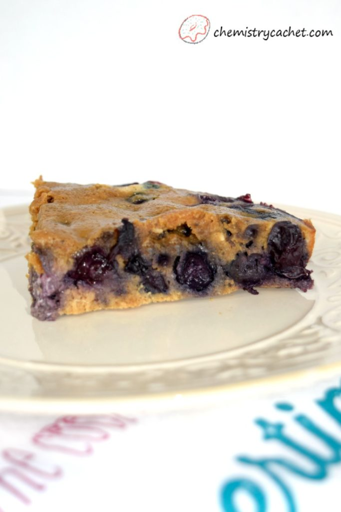 SUPER rich & fluffy gluten-free, dairy-free, gluten-free blueberry cake, plus chemist tips to bake it to perfection on chemistrycachet.com