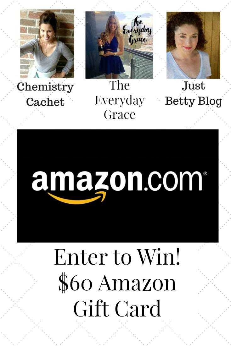 Enter to win! $60 Amazon Giveaway on chemistrycachet.com