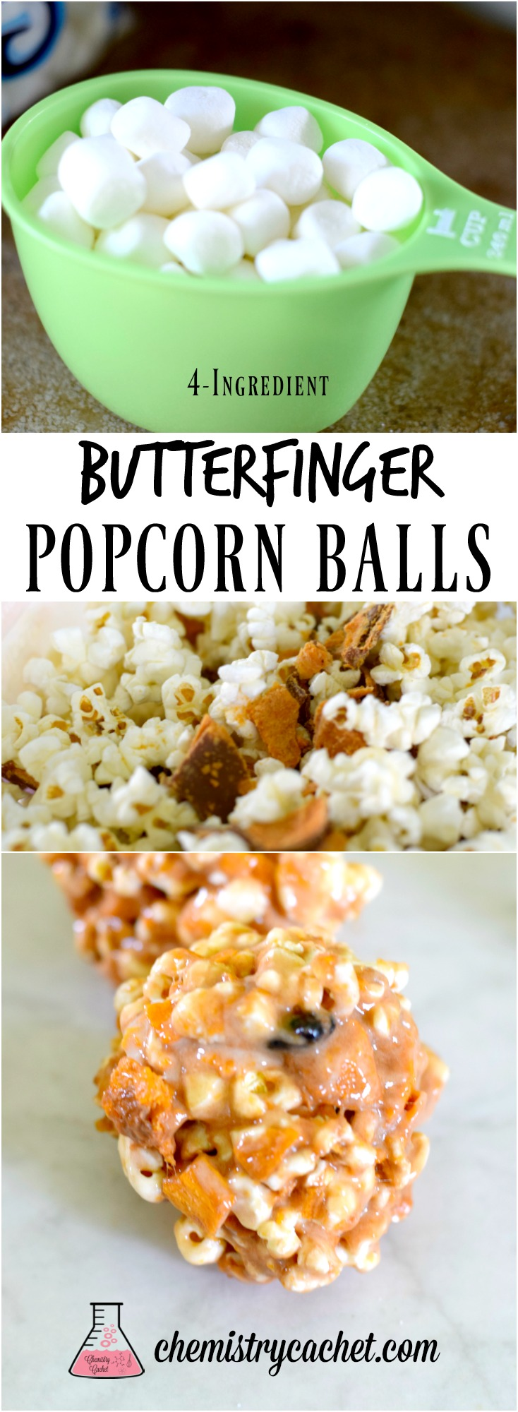 Pumpkin Spice Popcorn Balls. So easy and delicious! Plus a traditional butterfinger popcorn ball recipe that is perfect! See this dairy-free popcorn ball recipe on chemistrycachet.com