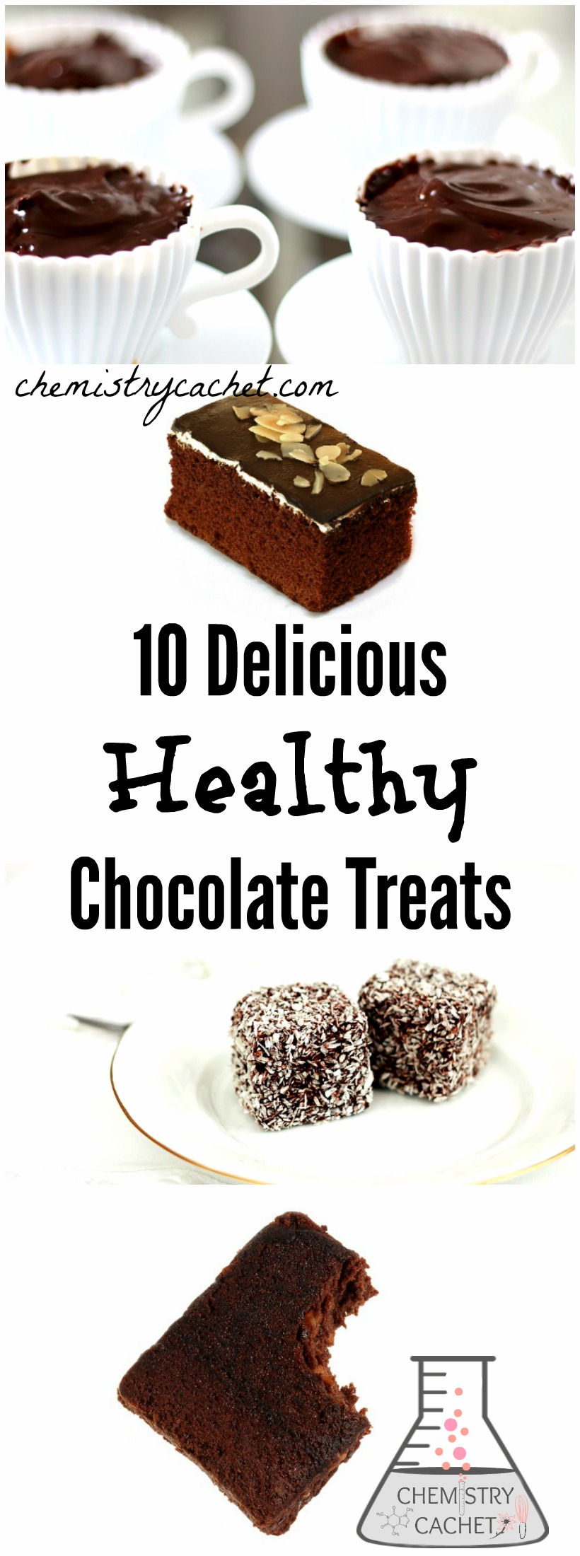 10 Delicious & Healthy Chocolate Treats (That Taste Decadent!) You would never guess these chocolate desserts are good for you too! See them on chemistrycachet.com