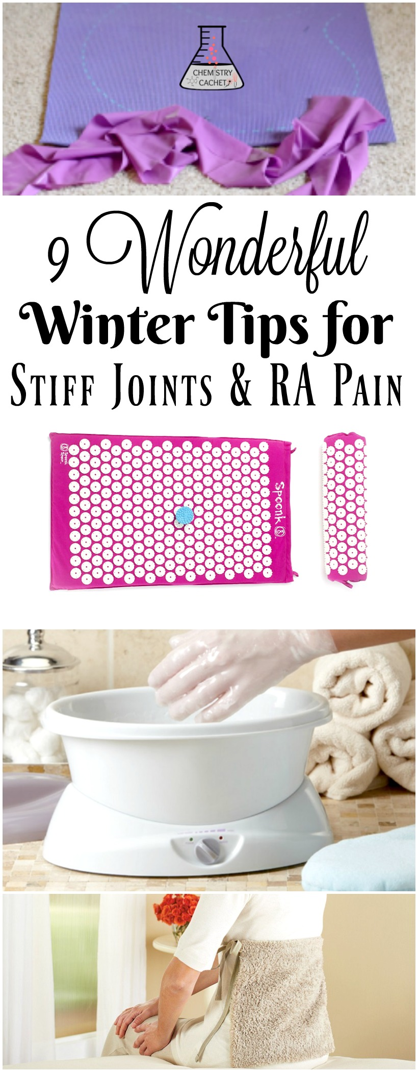 9 Amazing Winter Tips for Stiff Joints & Rheumatoid Arthritis Pain. Effective ways to sooth joint pain, stiffness, and feel better! on chemistrycachet.com