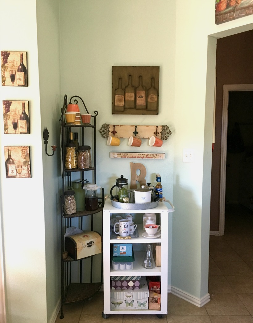 Easy Repurposed Cart to Coffee Bar