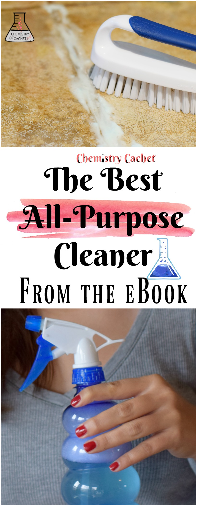 The BEST all-purpose DIY cleaner you can make! All from the eBook on chemistrycachet.com