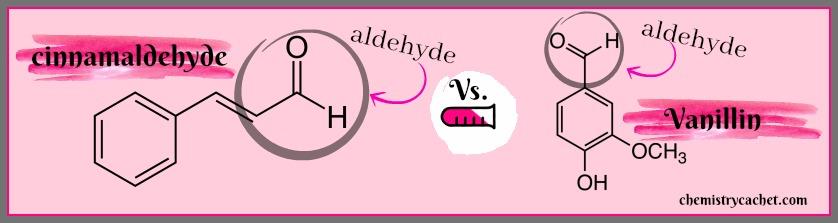 Cinnamaldehyde vs Vanillin structures on chemistrycachet.com