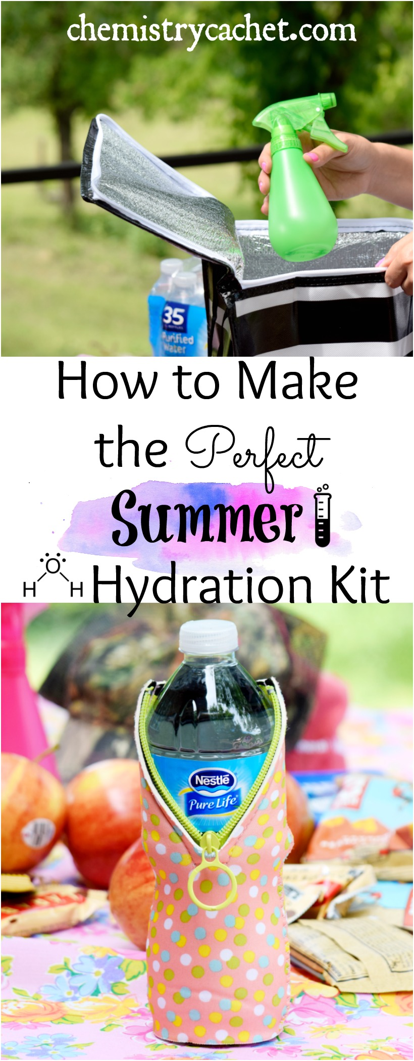 How to Make the Perfect Summer Hydration Kit #PureLife35pk #ad on chemistrycachet.com