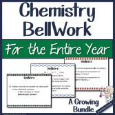 Chemistry BellWork for the Entire Year