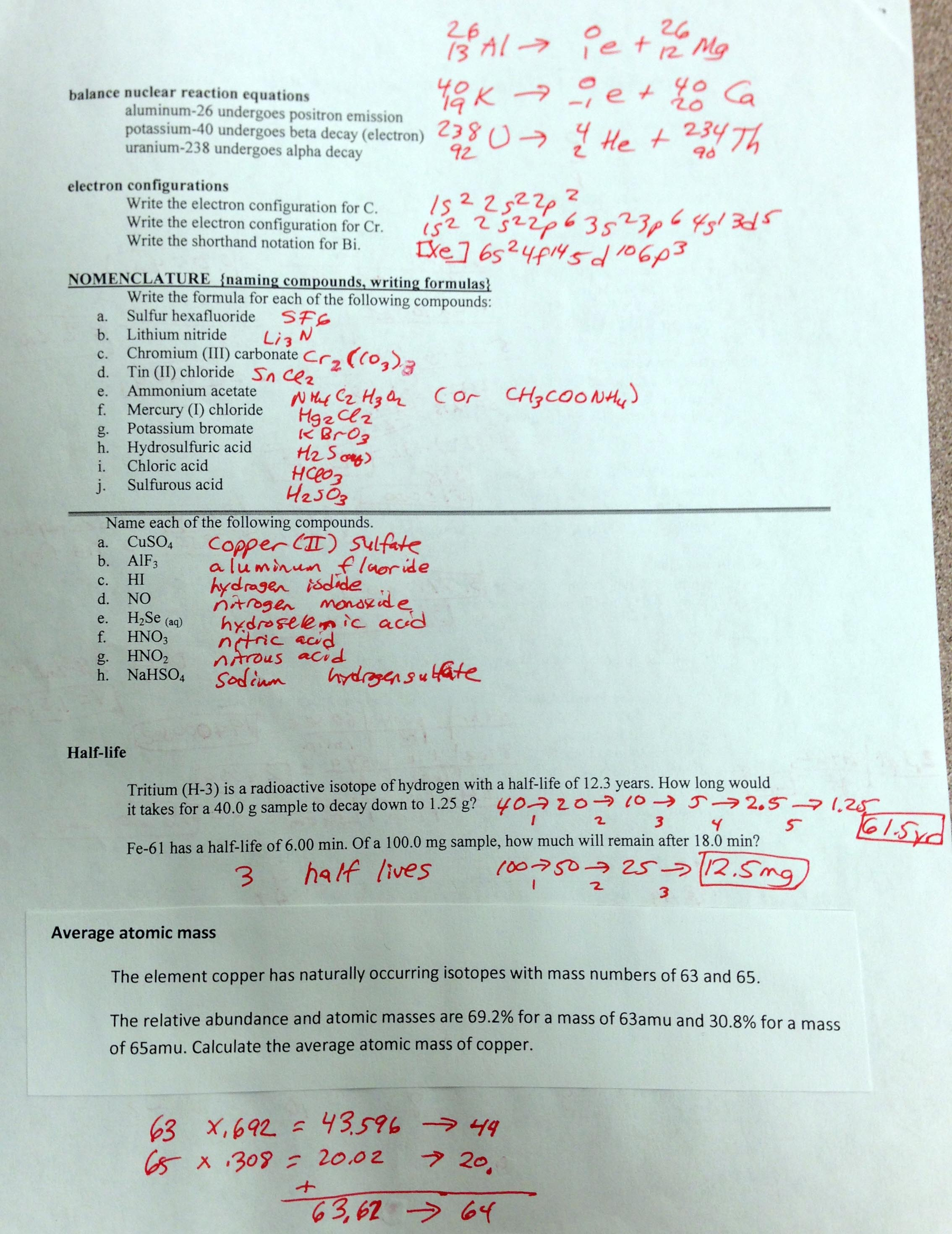 Worksheet Chemical Formulas And Equations Worksheet