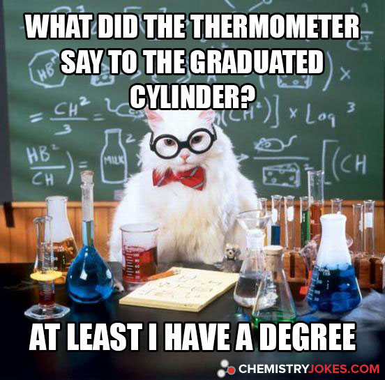 What Did The Thermometer Say To The Graduated Cylinder