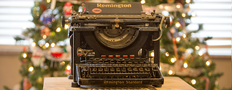 all i want for christmas is your old typewriter or antique