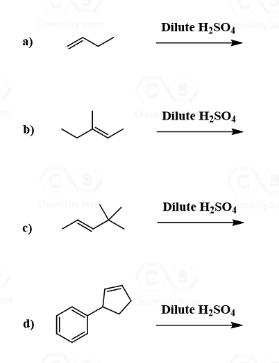 Addition of Water: Acid-catalyzed Hydration of Alkenes