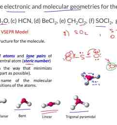 draw the lewis structures and determine the electronic and molecular geometries for the following molecules a bf3 b ch2o c hcn d becl2  [ 1849 x 1035 Pixel ]