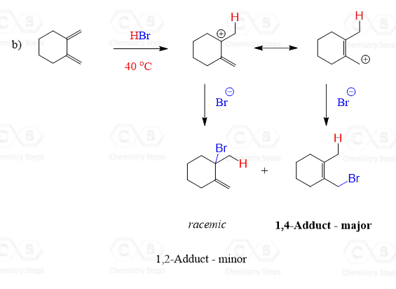 Kinetic vs Thermodynamic Control of Electrophilic Addition