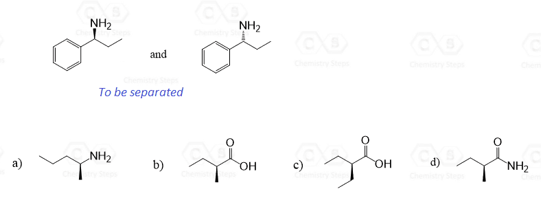 Resolution of Enantiomers: Separate Enantiomers by