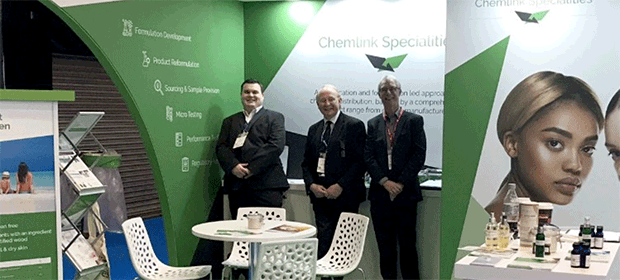 Chemlink team on the stand at SCS Formulate 2018