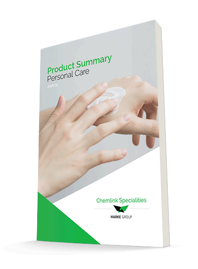 Personal Care ingredients brochure