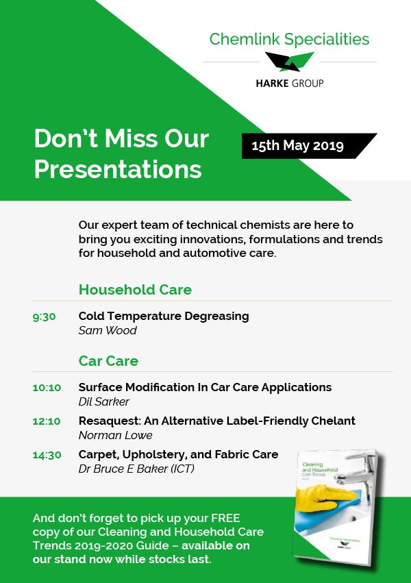 Chemlink presentation times