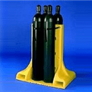 4-Cylinder Poly-Stand | free standing cylinder racks
