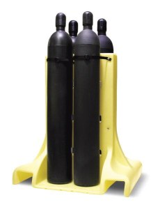 Four Poly Plastic Cylinder Rack Free Standing