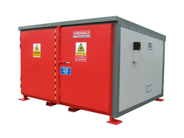 This Firevault was designed for the storage of 2 pallets of flammable materials