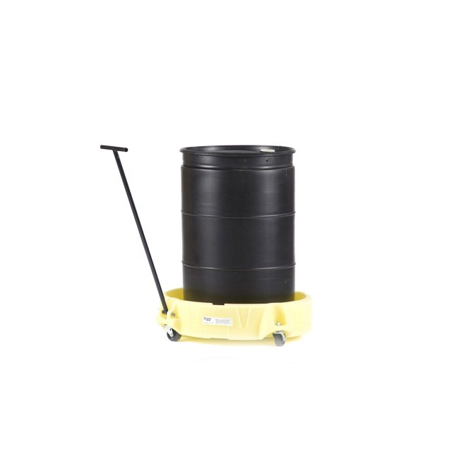 Poly Scooter Single Drum with Handle and Barrel Yellow