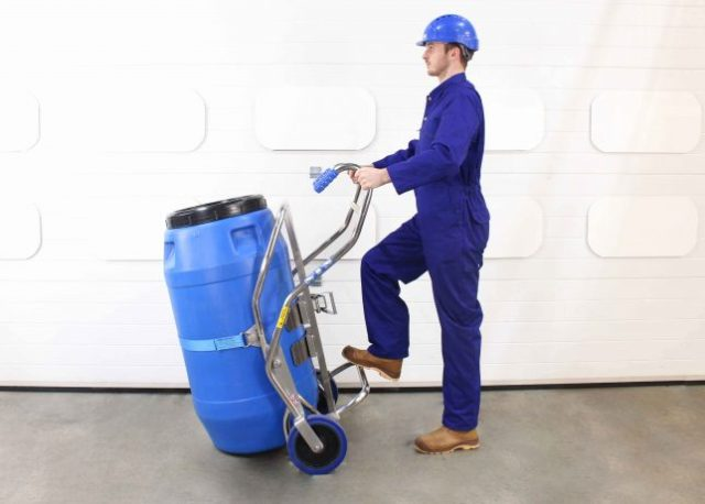 STS Safety Drum Trolley Lean