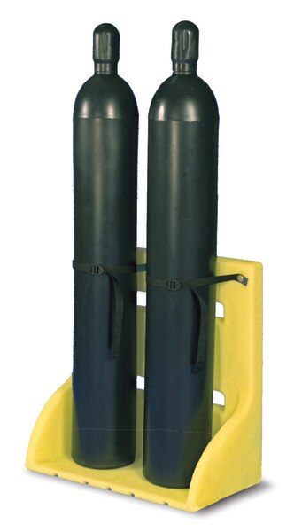 Two Poly Plastic Cylinder Rack Free Standing