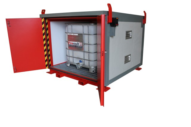 Firevault store for 1 IBC of flammable liquid