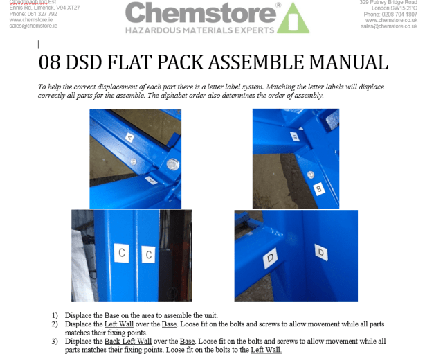 Chemstore Flatpack Instructions