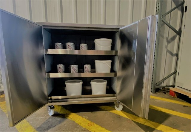 Stainless Steel Bunded Cabinet Open 316L(1)