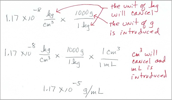 Metric Conversion Where Two Units Numerator And