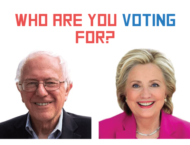 Who are you voting for?