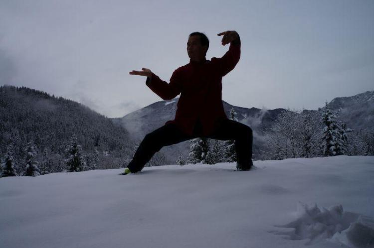 Xinjia v snegu