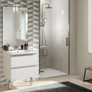 meuble salle de bain chene vert