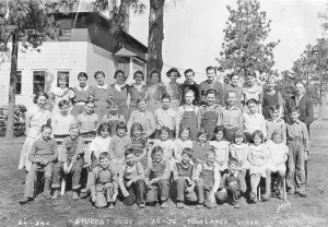 Four Lakes School student body 1935-36.