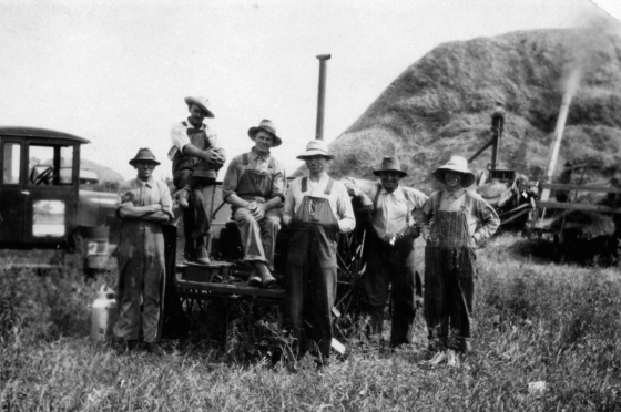 threshing crew