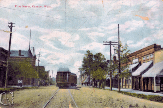 Electric train on 1st St