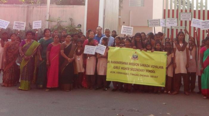 T.Nagar pollution-free bhogi School Event