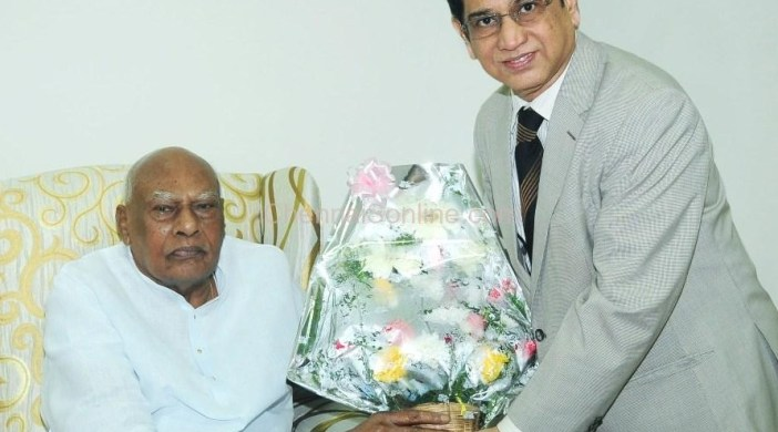 Doctor TS Chandrasekar with TN Governor