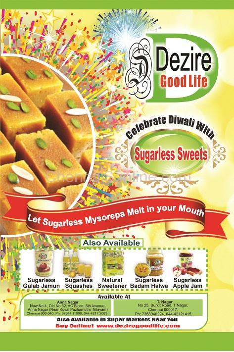 Dezire Diabetic Freindly Sweets