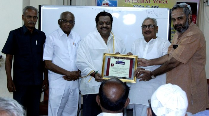 Dr Sirkazhi G Sivachidambaram felicitated with Sri Krishna Sweets 'Bharathi Semmal' Award