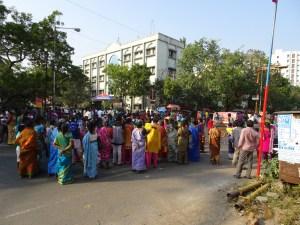 PROTEST AT Ashok Nagar 23-01-2017