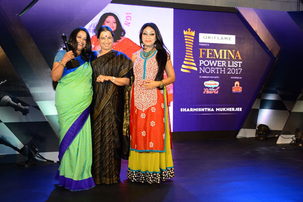 (From Left) Sharmistha Mukherjee, dancer, politician and daughter of President of India Pranab Mukherjee, with social activist RanjanSharmistha Mukherjee