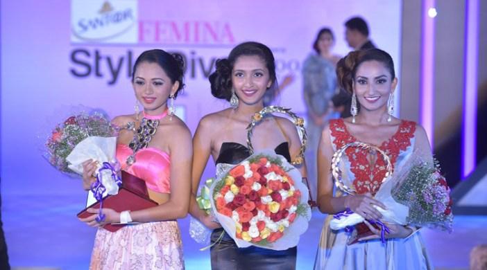 Presenting winners - First runner up Bhavana Sreepad, Santoor Femina Style Diva South 2017 Ashna Gurav, Second runner up Anookya Harish (OPTION 2)